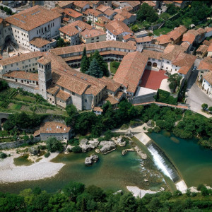 The Monastery of Santa Maria in Valle - aerial view (E. S. Ciol)